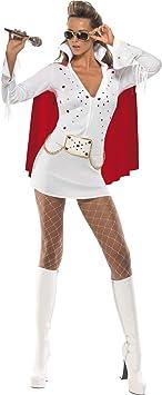 Generique - Disfraz de Elvis Presley para Mujer: Amazon.es ...