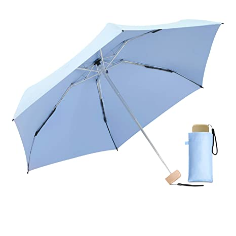 DORRISO Durable Paraguas Plegable Mujer Ligero Viajar Ocio Multiuso y Resistente al Viento Impermeable Anti-
