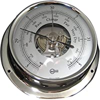 BARIGO Sky Series Ships Barometer - Stainless Steel Housing - 3.3 Dial