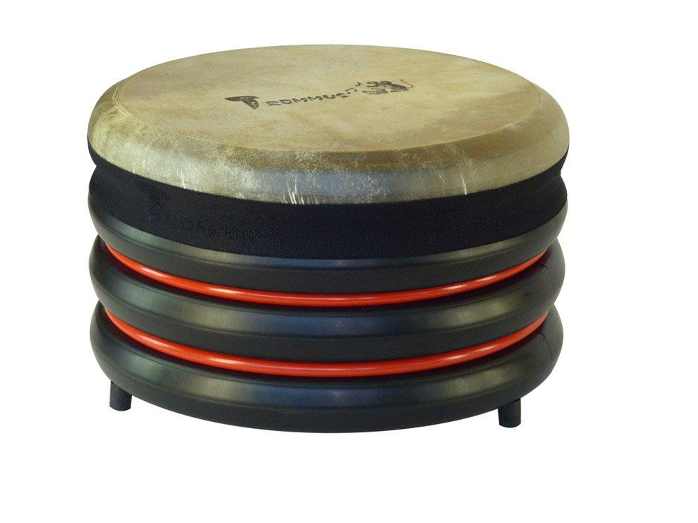 Trommus D1u Drum Hxø 21.5X34 cm. Red W1.3 Kg. Natural Skin, Multicolor, 21.5 x 34 cm