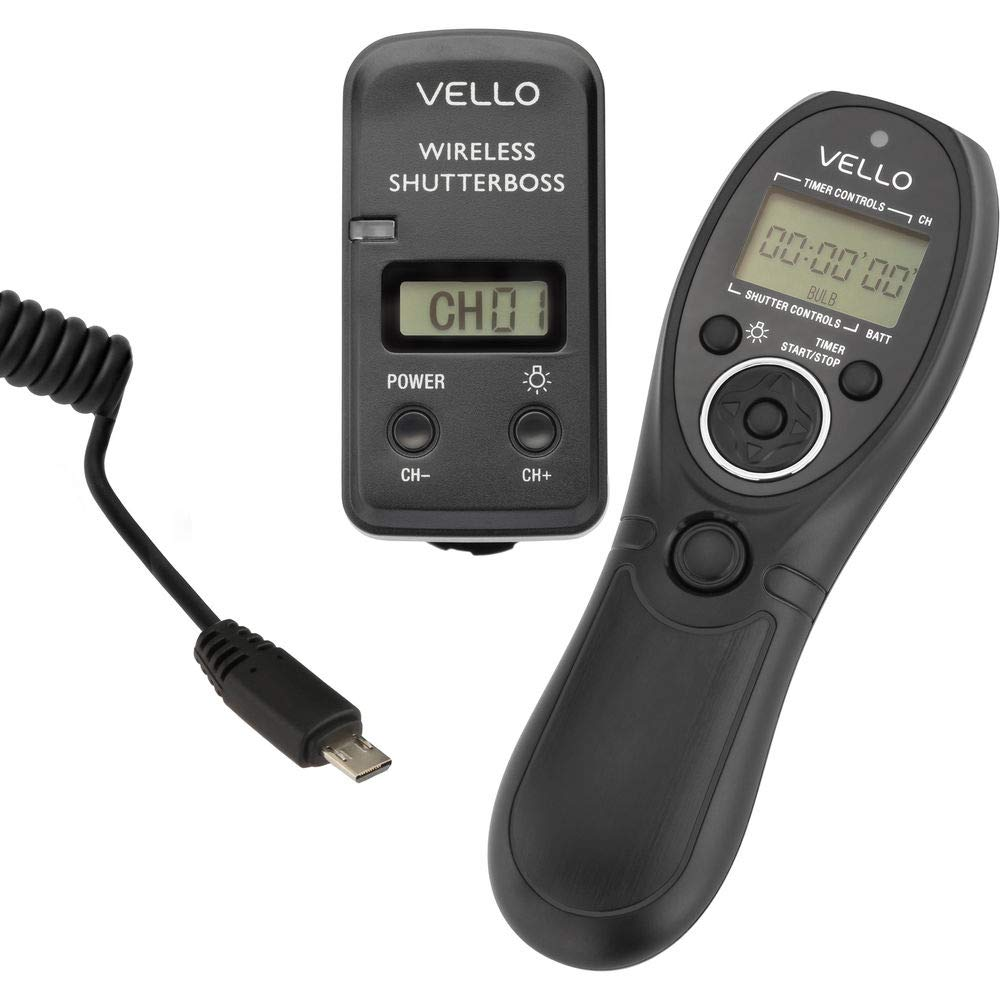 Vello Wireless ShutterBoss III Remote Switch with Digital Timer for Select Sony Cameras by VELLO