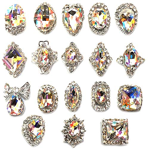 JIEPING 18 Pcs/Bag Rhinestone Nail Art Decoration Glitter for sale  Delivered anywhere in USA