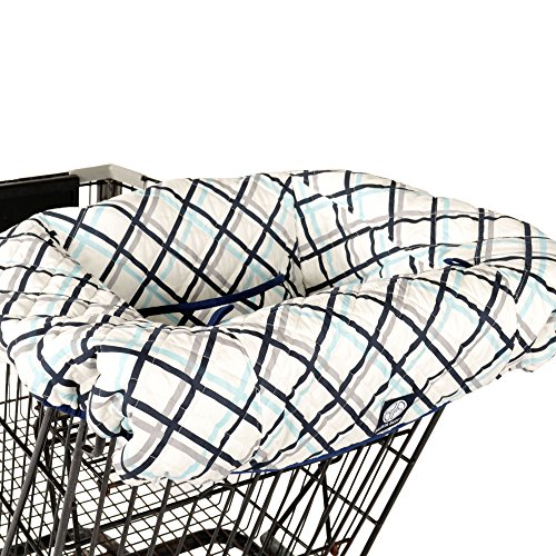 (Balboa Baby Shopping Cart & High Chair Cover - Navy Plaid)