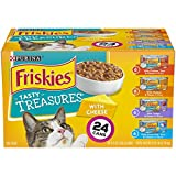 Purina Friskies Tasty Treasures Adult Wet Cat Food Variety Pack – (24) 5.5 Oz. Cans For Sale