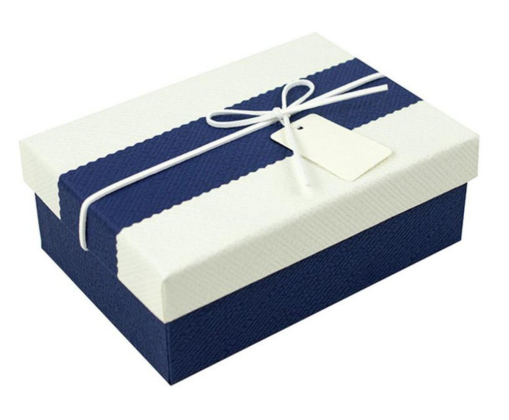 Blue Cardboard Gift Boxes With Lid Amazon Co Uk Kitchen Home