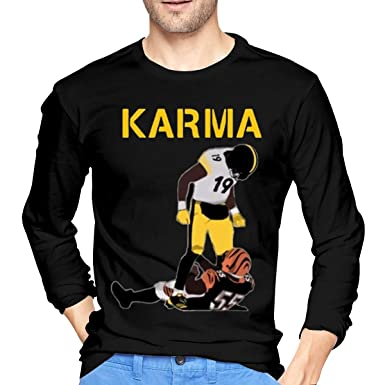 dc6f9ad5 Amazon.com: Steelers Karma Juju Smith-Schuster Vontaze Burfict Funny Tshirts  for Mens: Clothing