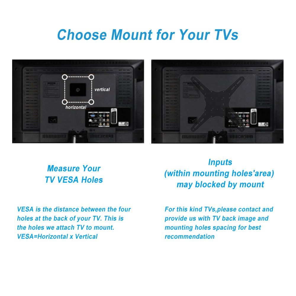 TV Wall Mount Bracket fits to Most 26-55 inch LED,LCD,OLED Flat Panel TVs, Tilt Full Motion Swivel Articulating Arms, TV Bracket VESA 400X400, 77lbs Loading with HDMI Cable, Cable Ties EVERVIEW by EVERVIEW (Image #6)