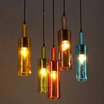 Personalidad creativa americana luz Botella de vidrio de color ...