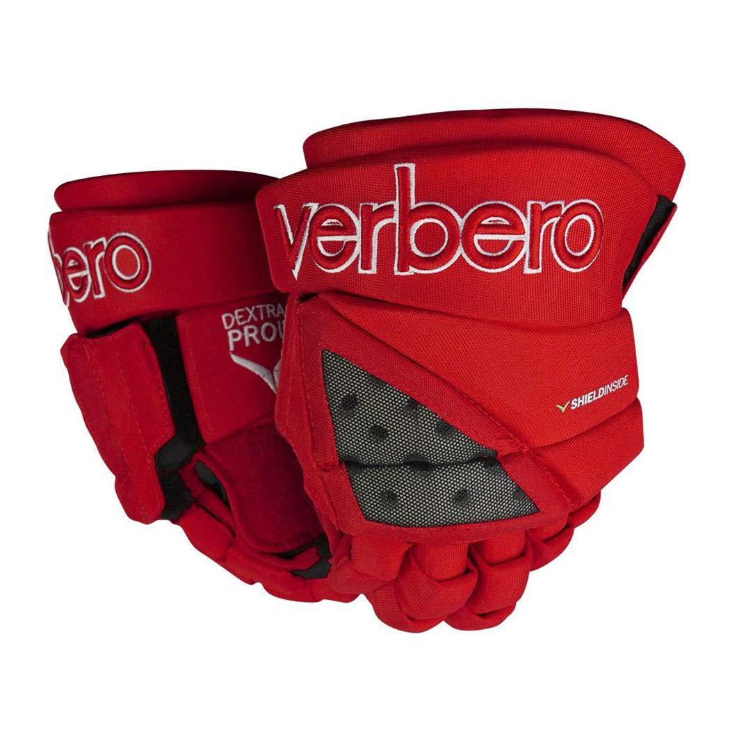 VERBERO Dextra Pro III Hockey Gloves (13 Inch - Red)
