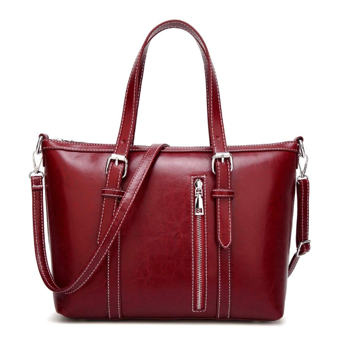 Sakuldes Damen Leder Handtaschen Schultertaschen Damen Schultertasche Messenger Bags Damen Handtaschen (Farbe   rot) B07MYWJ2R7 Henkeltaschen Mode