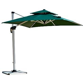 Purple Leaf 10 Feet Double Top Deluxe Square Patio Umbrella Offset Hanging  Umbrella Outdoor Market Umbrella