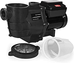 XtremepowerUS 75019 ECO High Flo Timer Control Panel Digital 230V Variable Speed Swimming Pool Pump, Black