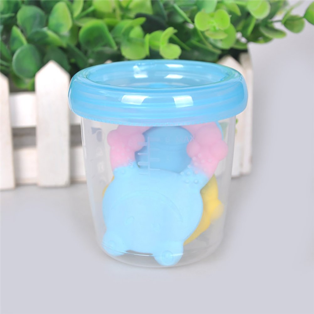 Luerme 3pcs Baby Reusable Breast Milk Cup Storage Containers BPA Free