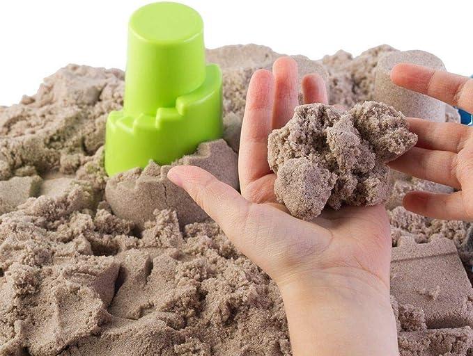800 gr 4 Farben Mit 10 Formen von Schl/össern und Utensilien Magischer Sand zum Modellieren