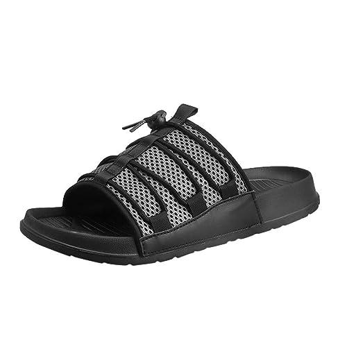 Zapatos de Playa Verano Hombres Pisos One-Word Drag Antideslizante Respirable Zapatillas Deportivas: Amazon.es: Zapatos y complementos
