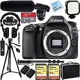 Canon EOS 80D 24.2 MP CMOS Digital SLR Camera (Body) w/Tascam DSLR Audio Recorder and Shotgun Microphone + 128GB & 64GB Pro Video Bundle