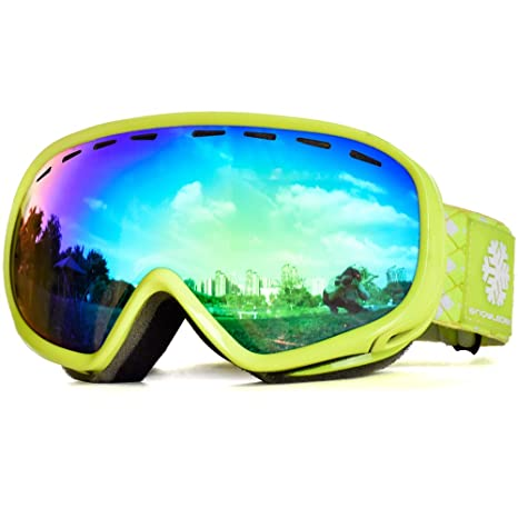 cdbfcf7bdd40 Snowledge Ski Goggles Mens with Frameless Interchangeable Lens ...