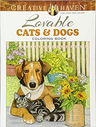 amazoncom creative haven lovable cats and dogs coloring book adult coloring 9780486804453 ruth soffer books