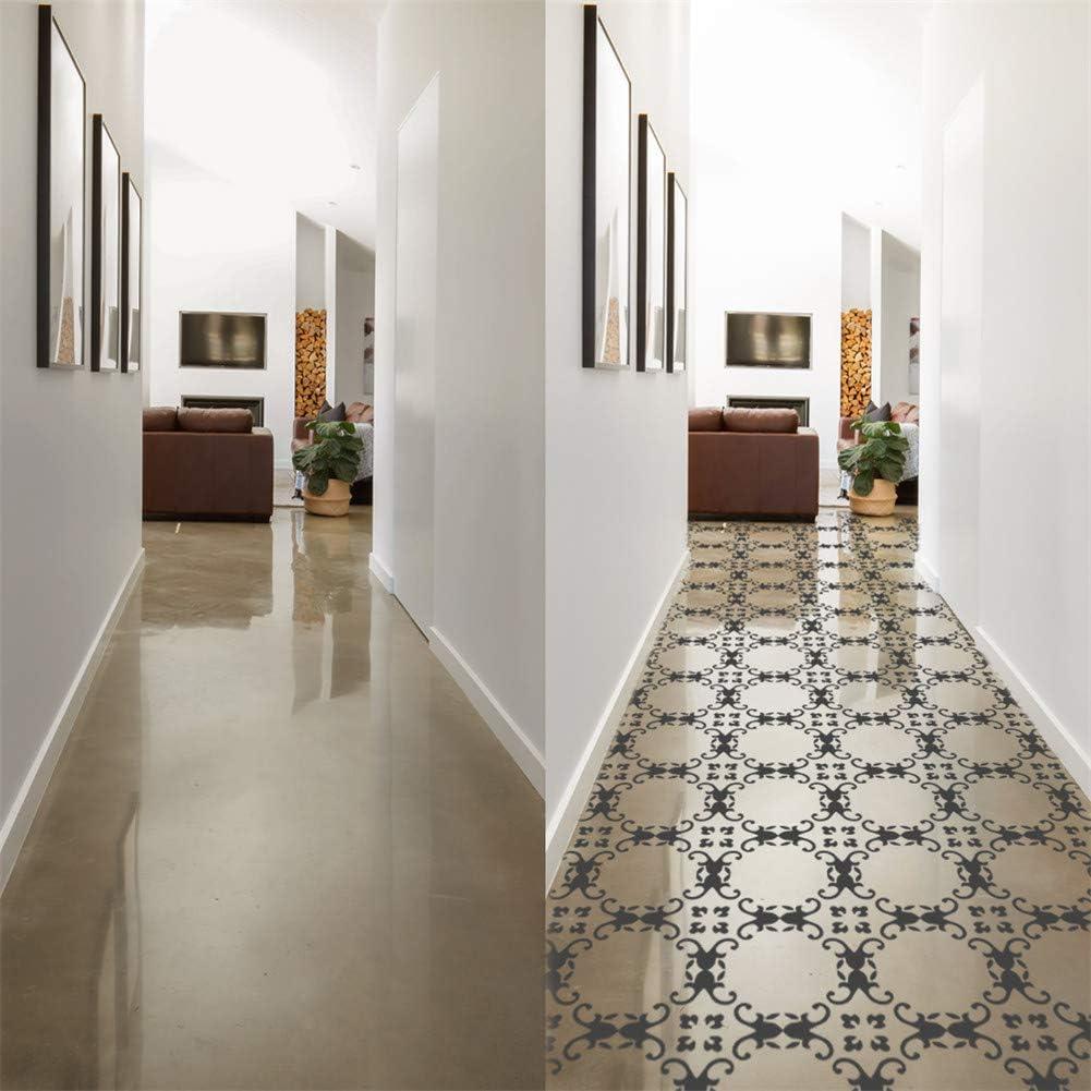 VancyTop Reusable Tile Stencil for Painting Walls//Floor//Furniture,10in,9PCS//Set