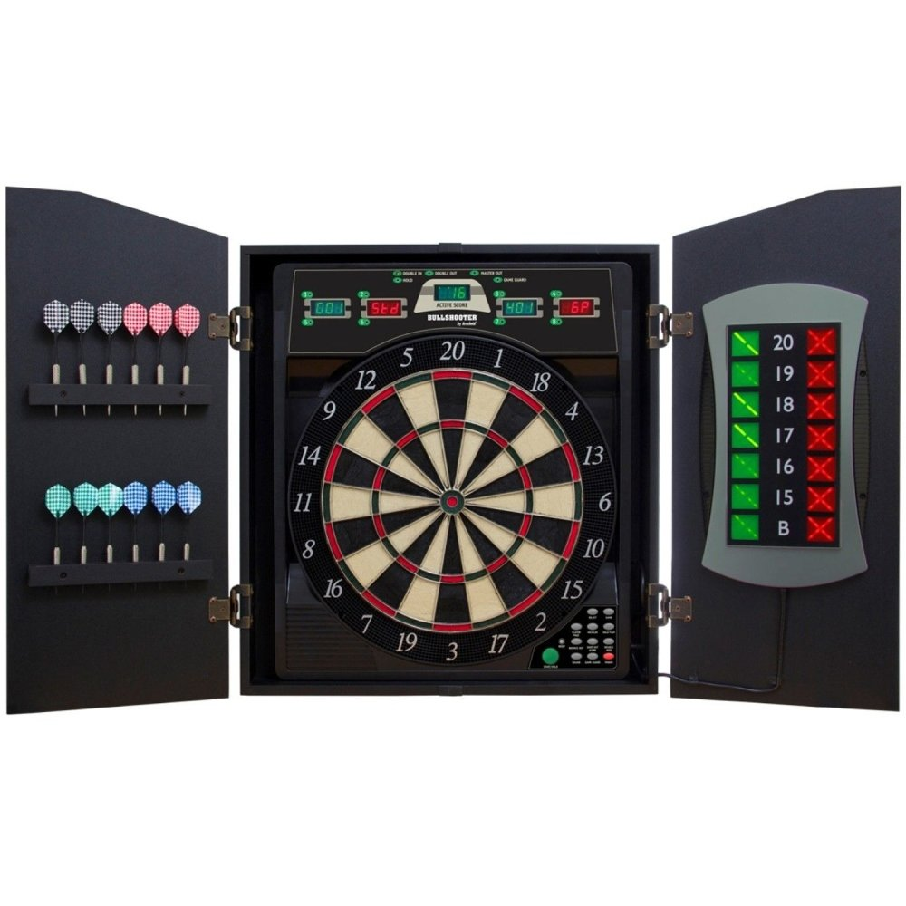 Amazon.com  Bullshooter Cricket Maxx 5.0 Electronic Dartboard Cabinet Set Includes 6 Steel Tips 6 Soft Tips Extra Tips and AC Adapter  Dart Equipment ...  sc 1 st  Amazon.com : electronic dartboard in cabinet - Cheerinfomania.Com
