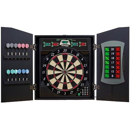 Arachnid Bullshooter E Bristle Cricketmaxx 5.0 Dartboard Cabinet Set