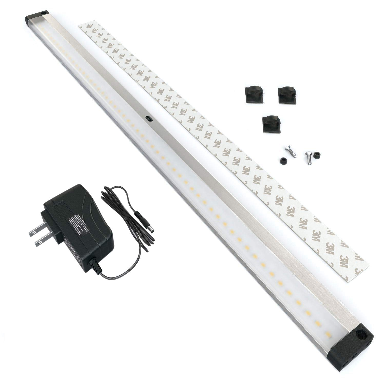 EShine LED Dimmable Under Cabinet Lighting - Extra Long 20 Inch Panel, Hand Wave Activated - Touchless Dimming Control, Cool White (6000K) by EShine