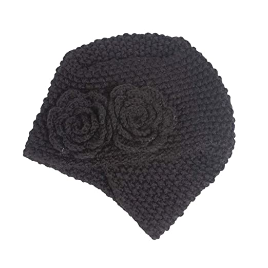 Eliffete Women Black Warm Skull Cap Muslim Chunky Braided Beanies Hats for  Girls 70df85981d6