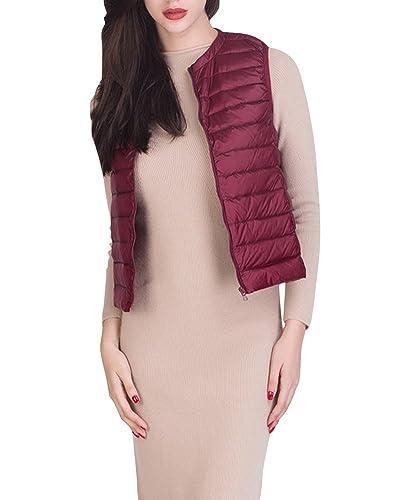 Chaleco De Mujer Portátil De Plumón Ligero Plegable De Pluma Acolchado De Invierno Jacket