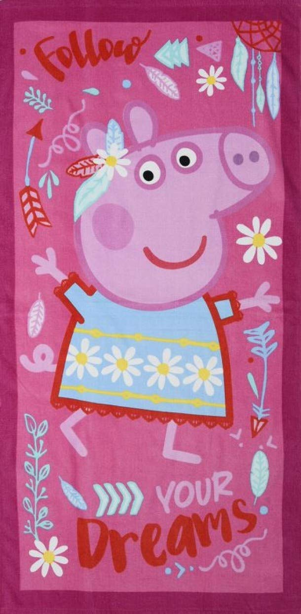 Peppa Pig Official Follow Your Dreams 100% Cotton Beach Towel