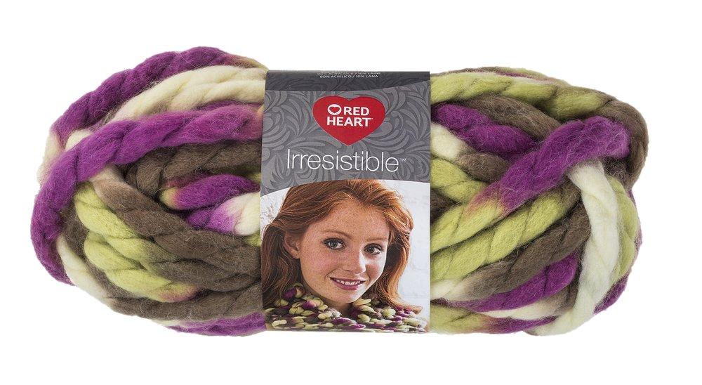 Red Heart Yarn Red Heart Irresistible Yarn Oatmeal, Oatmeal (E848.7305) Coats & Clark