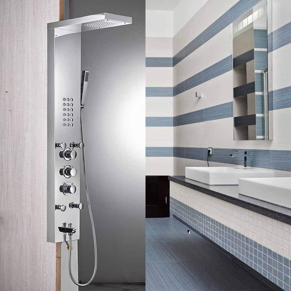 Sistema ducha con termostato, conjunto panel ducha Mampara ducha ...