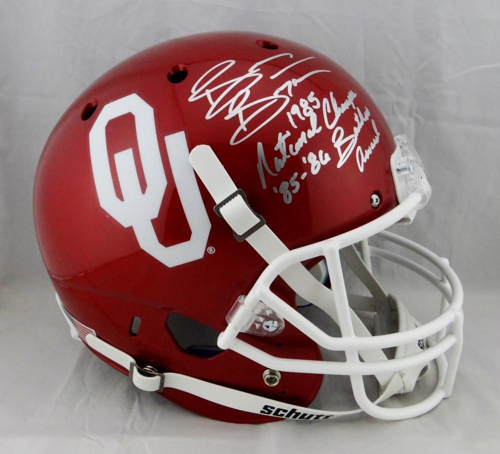 Brian Bosworth Signed OU Sooners F/S Helmet w/ Natl Champ Butkus-Beckett Auth