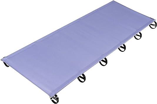 OUTAD Cama Plegable y Ultraligero al Aire Libre,Aleación de Aluminio Aeroespacial(púrpura)