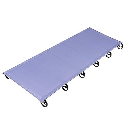OUTAD Cama Plegable y Ultraligero de Camping,Aleación de Aluminio Aeroespacial(púrpura)