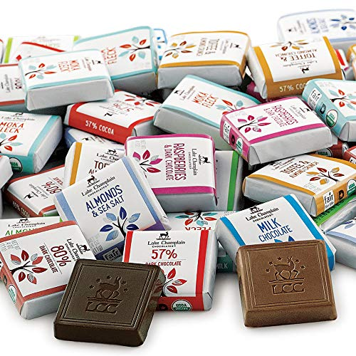 Lake Champlain Bulk Assorted Organic Chocolate Squares, 175 Pieces, 4.5 Pounds made in New England