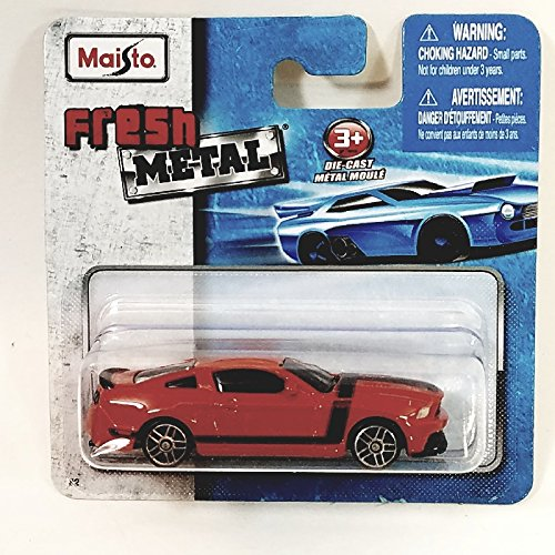 Maisto Fresh Metal Series Fire Engine Red Ford Mustang 1/64 Scale Diecast Car