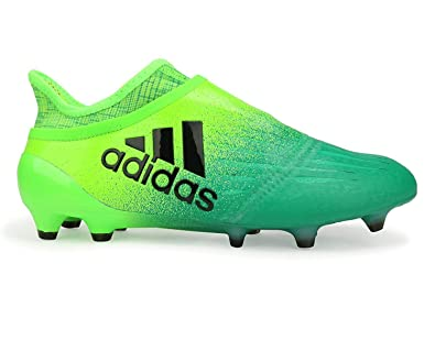 eb88668c4 adidas Men's X 16+ Purechaos Fg Solar Green/Core Black/Core Green Soccer
