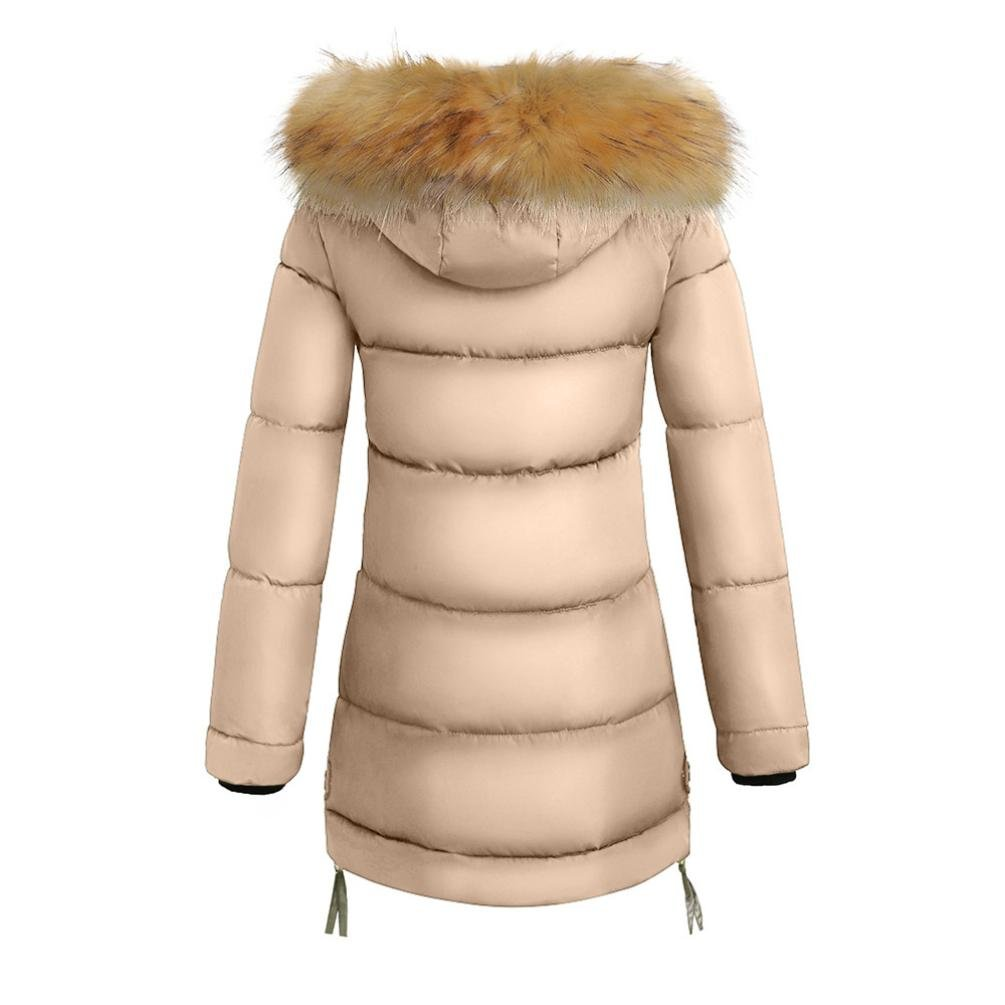 Amazon.com: Forthery Womens Puffer Jacket with Plush Lined Fur Trim Hood Down Coats (Tag XXL=US L, Red): Kitchen & Dining