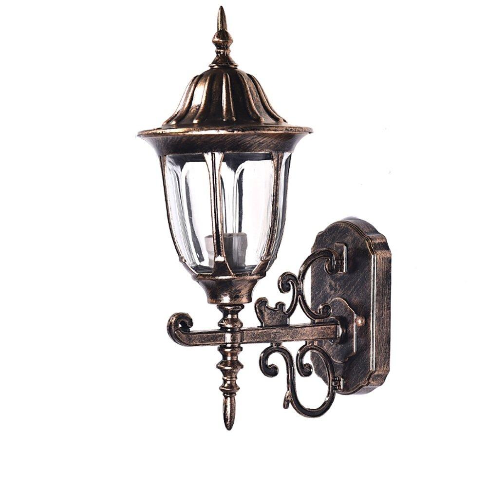 Lampada da parete per esterni in alluminio europeo con lampada da giardino