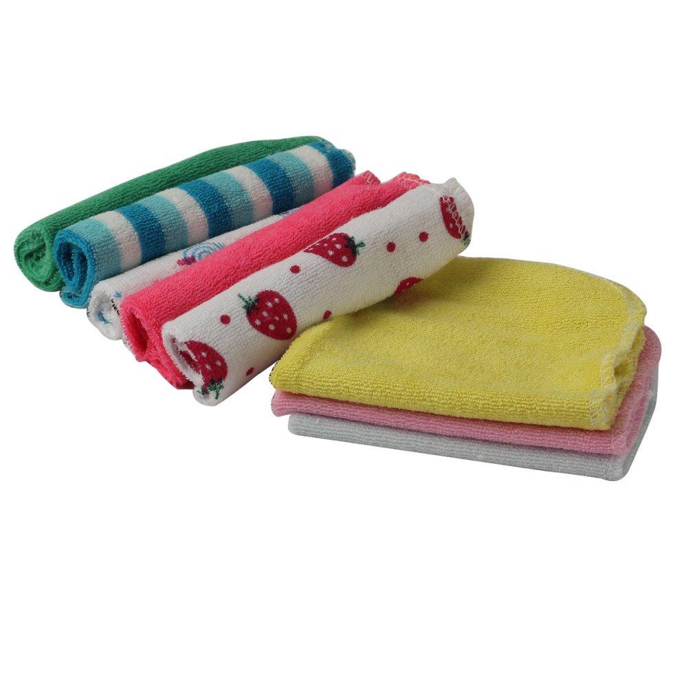 Merssavo 8 pieces Mouchoir Allaitement Serviettes en Coton pour les mains pour Bébé Nouveau-né Multicolore styleinside®