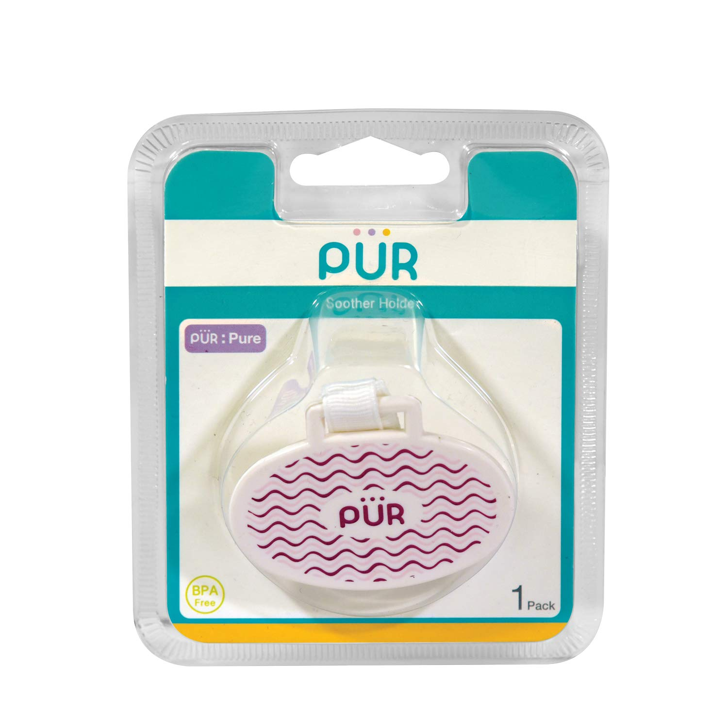 Pur Oval Shaped Soother Holders (Pink)