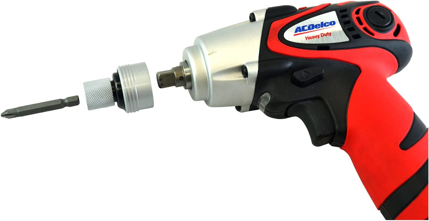 2 battery inlcuded 974 in-lbs ACDelco ARI1258-3 Li-ion 12V 3//8-inch Impact Wrench