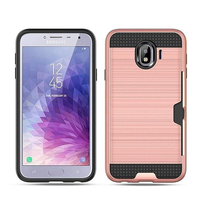 Amazon.com: Samsung Galaxy J4 2018 Case, Card Holder Dual ...