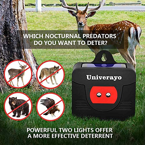 Univerayo Pack of 4 Deer Repellent Coyote Deterrent Solar Powered Predator Light Nocturnal Animal Deterants Predator Control Lights Fox Skunk Coyote Raccoon Repellent - Upgraded Version by Univerayo (Image #3)