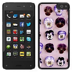 EJOY---Cubierta de la caja de protección para la piel dura ** Amazon Fire Phone ** --Modelo de flores de primavera Naturaleza Lila Rosa