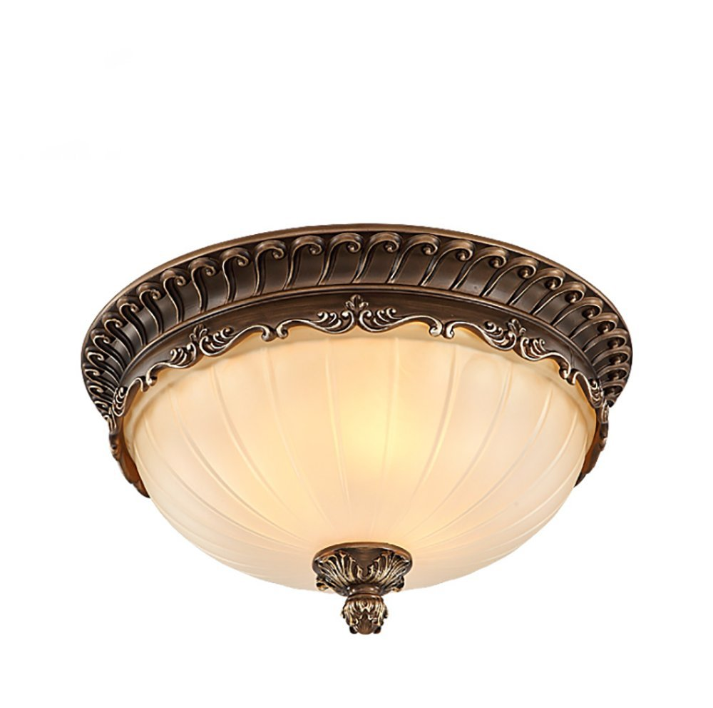 Siminda Mount Interior Ceiling Fixture Finish with Embossed Floral and Leaf Design Glass Brown 11.6 Inch