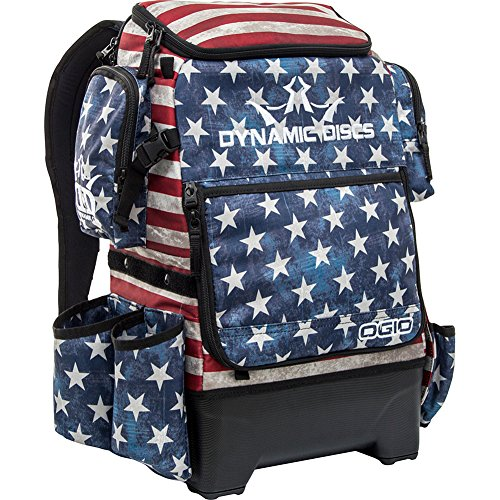 (Dynamic Discs Ranger H2O Backpack Disc Golf Bag (Stars and Stripes))