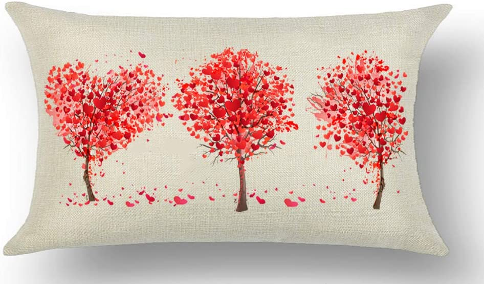 Love Yall Valentine Throw Pillow COVER 14 X 14 Faux Burlap