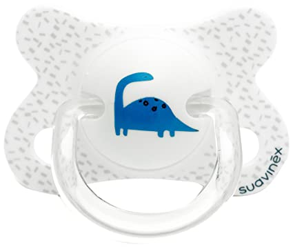 Suavinex 302504 - Chupete fisiológico látex, 0-4 meses, dinosaurios ...