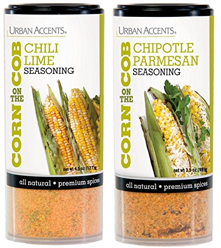 (Urban Accents Corn on the Cob Vegetable Seasoning, Chile Lime and Chipotle Parmesan)